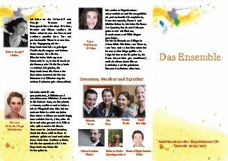 Das Tournée 2016/2017 Ensemble. Motivation, Impuls und Programm
