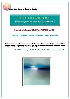 Zafiro - Sentido de la vida - Discreción