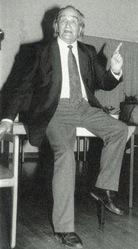 Rudolf Geiger en una conferencia