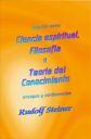 Ciencia espiritual, filosofía y teoría del conocimiento