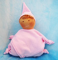 Muñeca Waldorf de nudos rosa