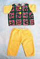 Pijama amarillo y estampado