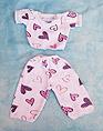 Pijama con estampado de corazones