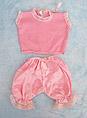 Pijama rosa sin mangas