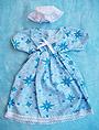 Vestido con estampado de estrellas azules