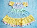Vestido con falda de tres colores